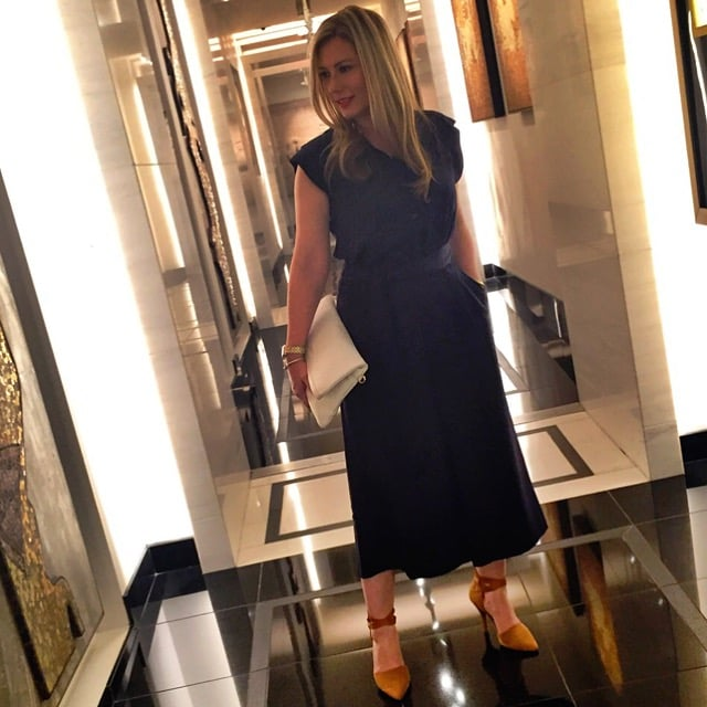 Ann Taylor Navy Wide Leg Jumpsuit