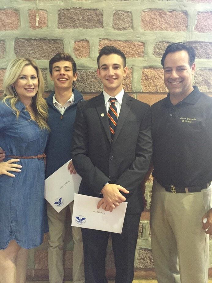 The Goldberg Family at the PVSA Award Ceremony