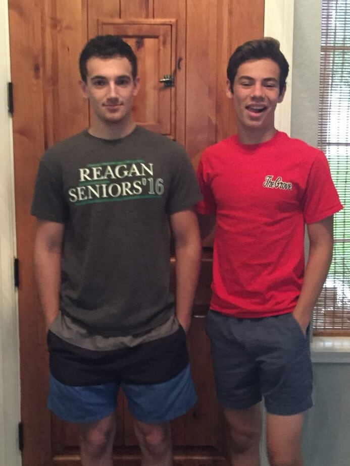 Jake & Shane on the last day of school