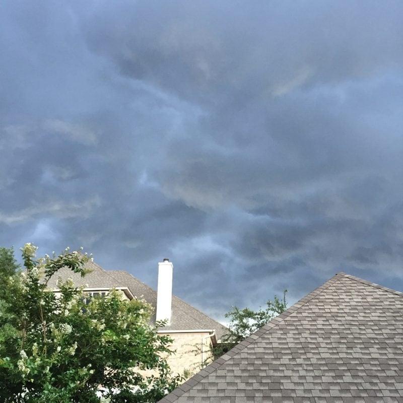 Strange weather over San Antonio