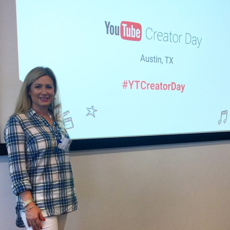Marnie from MsGoldgirl at YouTube Creator Day Austin
