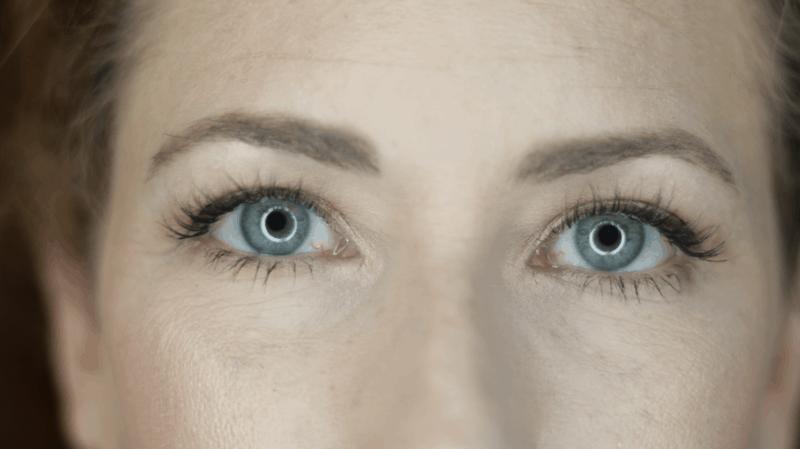 Close up of undereye wearing Armani Power Fabric Foundation