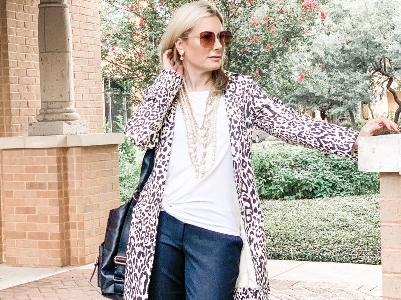 Chico's Animal Print Fall Fashion Layered Pearls