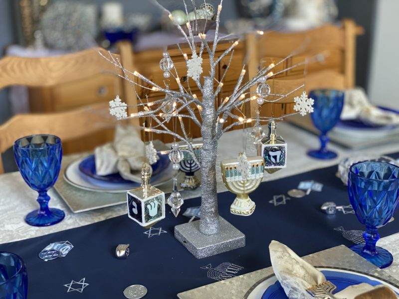 Hanukkah Decorations Dining Table Centerpiece