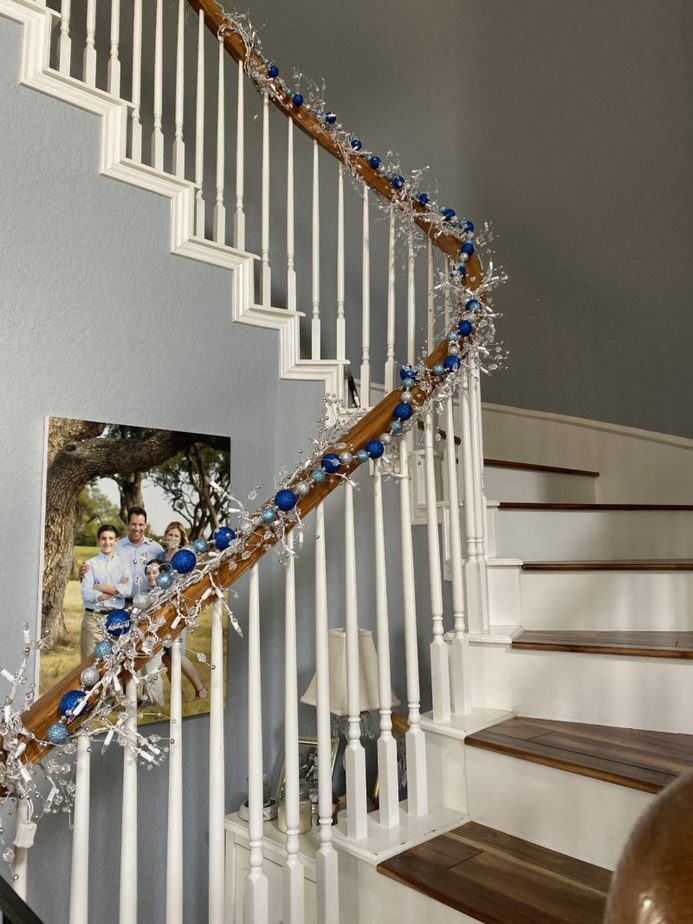 Staircase Hanukkah Decorations